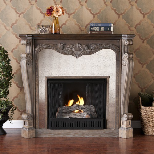 landon slate gel fuel fireplace modern indoor fireplaces