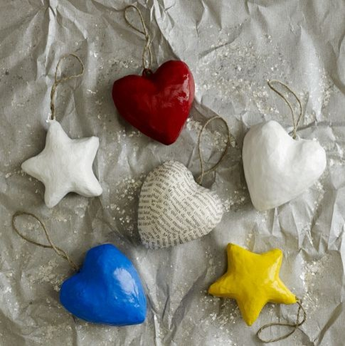 Hearts + Stars for Haiti Ornaments modern-christmas-ornaments