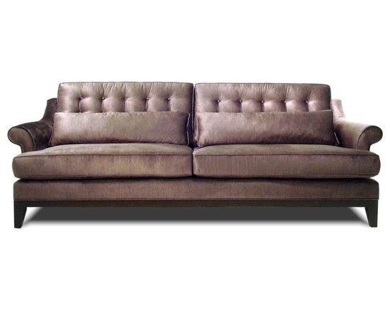 Lexington Sofa - Inspired by European design, the Lexington sofa combines classic rolled arms with chic button tufting. The eco-friendly, recycled steel springs, recycled cushion inserts, and all natural fibers make this sofa perfect for the 21st century.