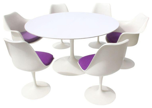 Eero Saarinen Tulip Table and Chairs 12000 Est Retail  : midcentury dining sets from www.houzz.com size 640 x 456 jpeg 32kB