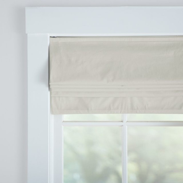 Metro Cordless Roman Shade With Blackout Lining - Modern - Roman ...