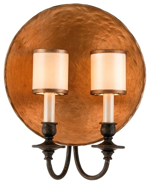 Wall Sconces Copper : Copper Plate Wall Sconce - Wall Sconces - by Shades of Light