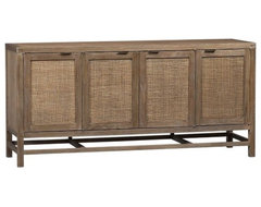 "Blake Grey Wash 68"" Media Console contemporary-entertainment-centers-and-tv-stands"
