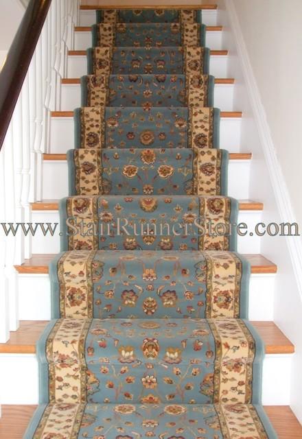 Straight Stair Runner Installation traditional-carpet-flooring