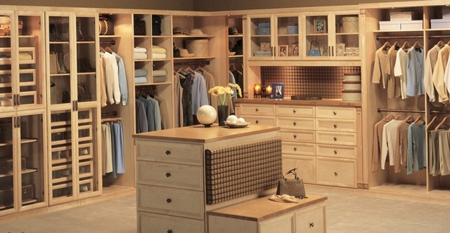 Maple Closet Redesign Project traditional-closet