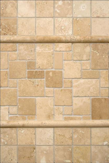 ivory travertine backsplash transitional tile by