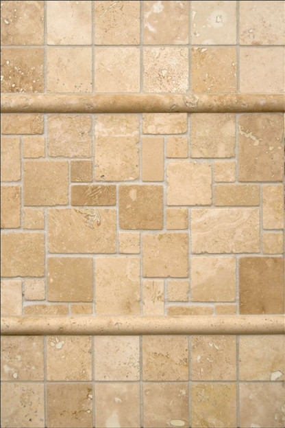 ivory travertine backsplash transitional tile by tileology llc