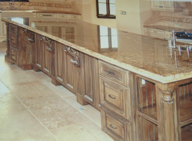 Hand Painted work traditional-kitchen-cabinets