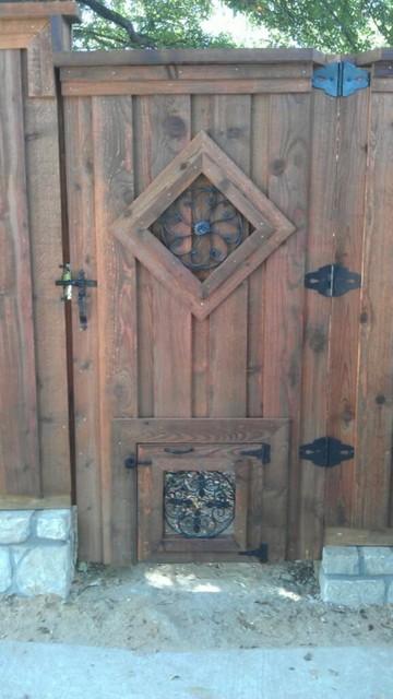 Decorative doggie window trim cedar gate dallas by