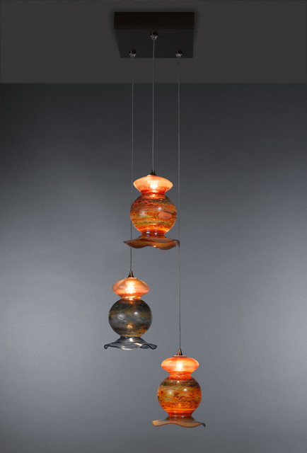 Vase Glass Pendant Lights contemporary-pendant-lighting