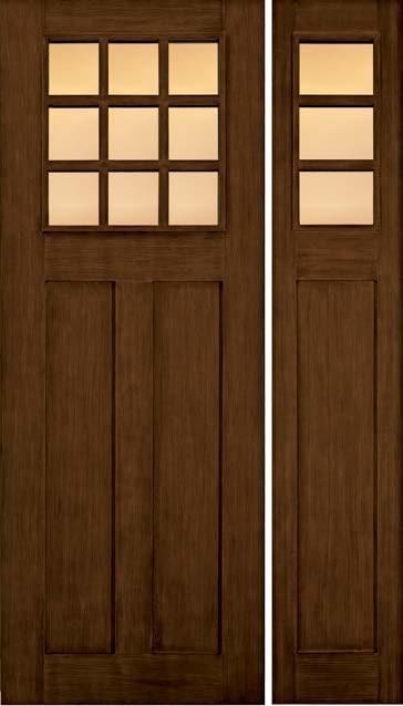 Jeld Wen A362 Door Sidelight Douglas Fir Woodgrain Caramel Finish Craftsman Front Doors