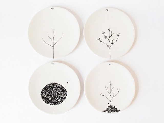 The Four Seasons Plate Set contemporary serveware