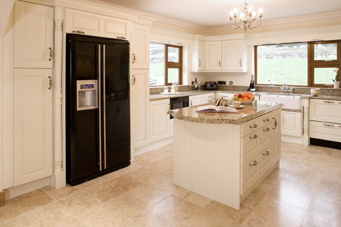 Cream painted traditional kitchen cabinetry other for Best cream paint for kitchen cabinets
