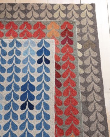 Droplets Hooked Wool Rug contemporary-rugs