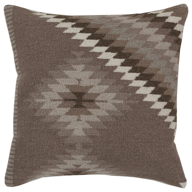 Decorative Pillows Kilim : Brown Kilim Throw Pillow - Modern - Decorative Pillows - by zulily