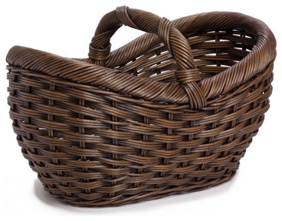 Wicker Farmer's Market Basket traditional-baskets