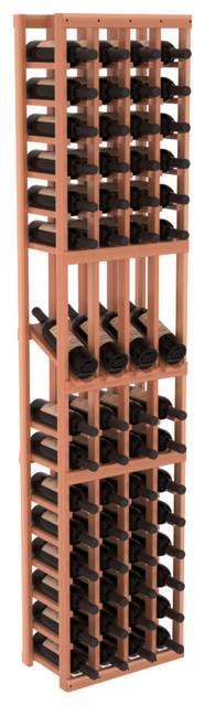 4 Column Display Row Wine Cellar Kit in Redwood, Satin Finish contemporary-wine-racks