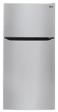 LG Electronics Refrigerator. 20.21 cu. ft. Top Freezer Refrigerator in Stainless contemporary-refrigerators-and-freezers