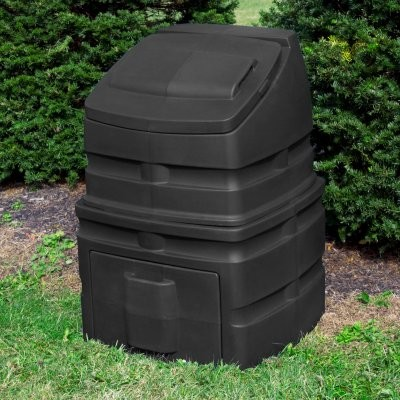 Good Ideas Compost Wizard 90 Gallon Recycled Plastic Compost Bin - Black modern-kitchen-trash-cans