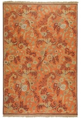Area Rug: Texcoco Rust 9' x 12' contemporary-rugs