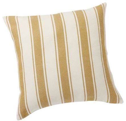 Modern Gold Pillows : Chunky Stripe Pillow Cover, Gold - Modern - Decorative Pillows - by Pottery Barn