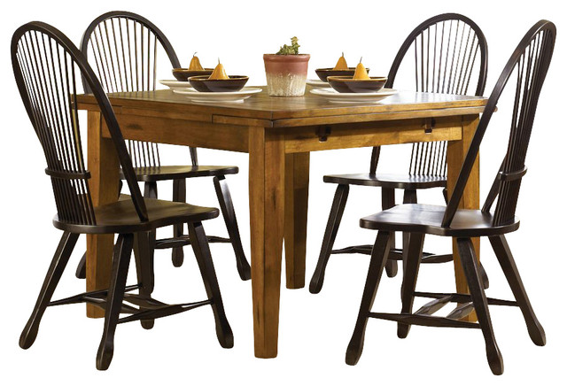 Liberty furniture treasures 5 piece 68x38 dining room set for Traditional black dining room sets