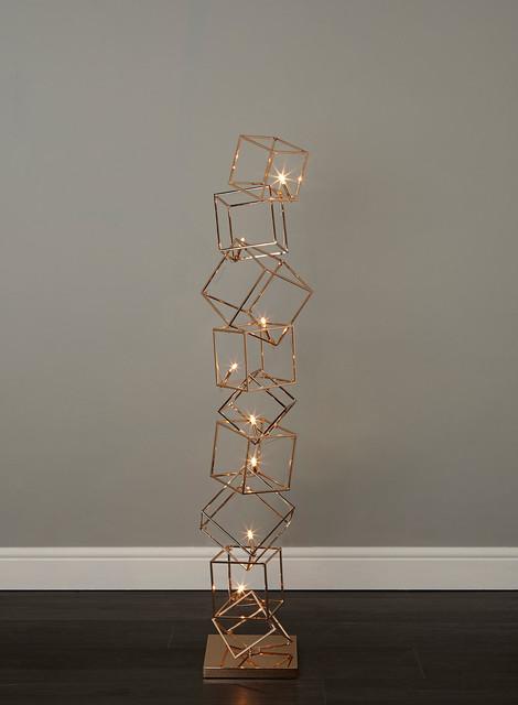 dexter 8 light copper cube floor lamp contemporary With copper cube floor lamp
