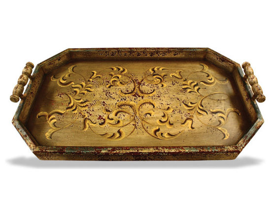 Accessory Trays - This accessory tray features a simple distressed scroll design and is available in a variety of finishes. See more at a local Houston showroom!