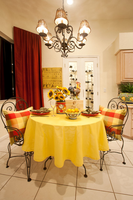 Inspired by the Rolling Hills of Tuscany mediterranean-kitchen