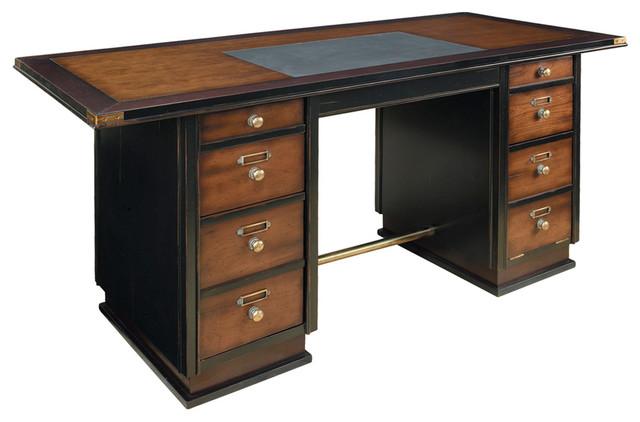 Authentic Models MF014 Captain's Desk, Black traditional-desks