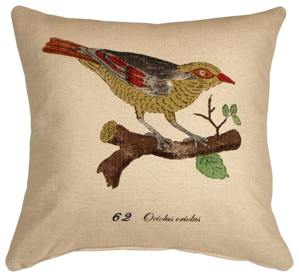 Decorative Pillows With Bird Design : Pillow Decor - Bird on Branch 20 x 20 Throw Pillow - Contemporary - Decorative Pillows - by ...