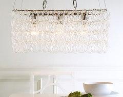 Glass Link Chandelier modern-chandeliers