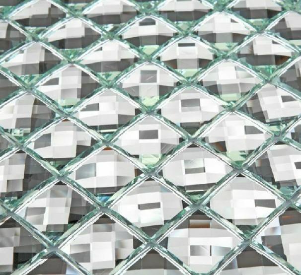 Mirror glass mosaic tile glass mosaic Mirror tiles diamond glass ...