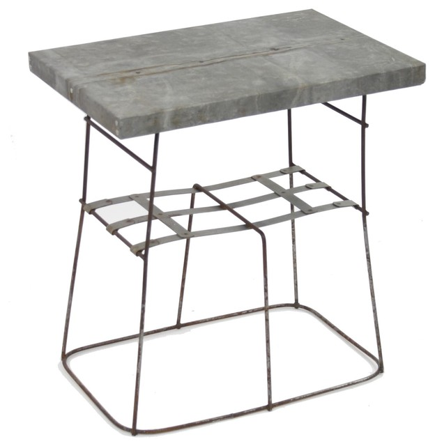 Zentique Recycled Metal End Table traditional-side-tables-and-end-tables