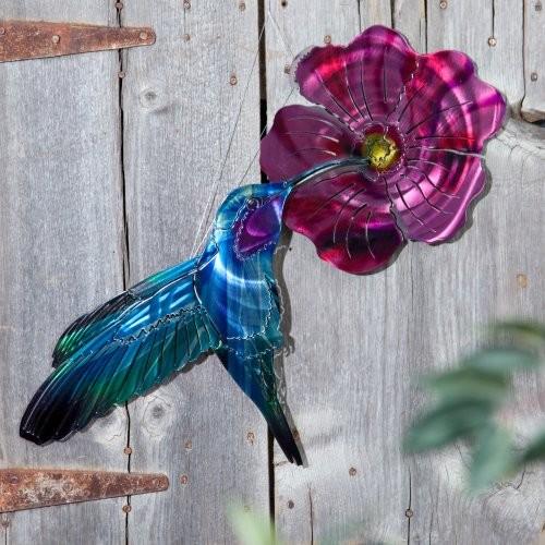 Garden Hummingbird Indoor / Outdoor Light Reflective Wall