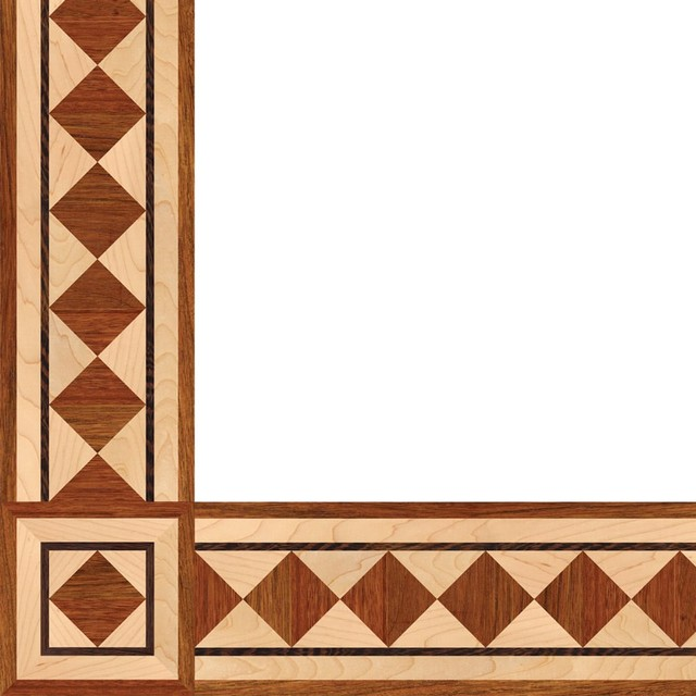 Oshkosh Designs Wild Iris Inlay Border And Corner