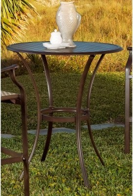 Attractive and functional, the Panama Jack Island Breeze Slatted Aluminum 36 modern-indoor-pub-and-bistro-tables