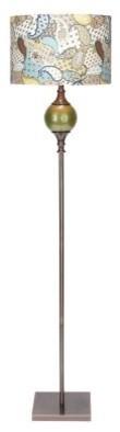 Aspire Green Paisley Floor Lamp modern-floor-lamps