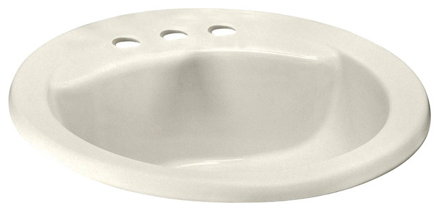 Cadet Oval Sink with 8 Inch Spacing in Linen contemporary-bath-products