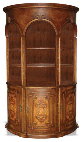 old world tuscan bookcase frankfurt fresco brown crackled