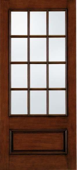 Jeld-Wen A5512 SDL Door-Sidelight Mahogany Woodgrain Caramel Finish eclectic-front-doors