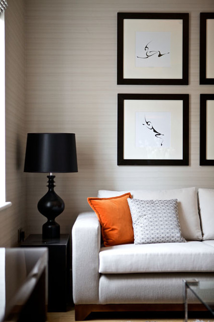 Layering textures is key to opulance contemporary-family-room