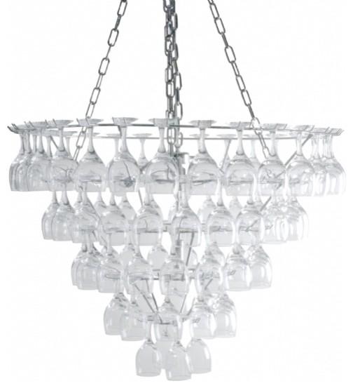 Vino Wine Glass Chandelier Large eclectic-chandeliers
