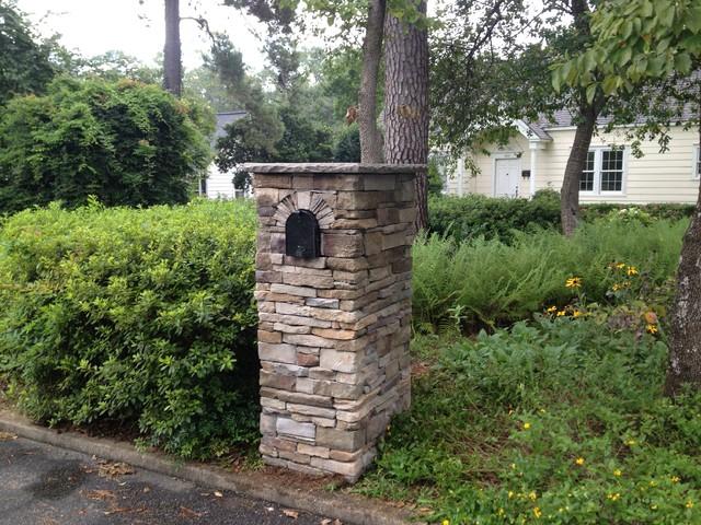 Stone Mailbox Post Ideas Stone mailbox traditional-