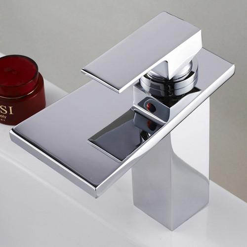 Kohler Waterfall Faucet : Kenz Waterfall One Hole Bathroom Sink Faucet modern-bathroom-faucets