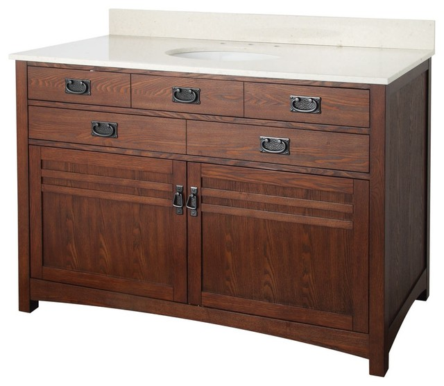 Foremost 48'' Cornell Collection Bathroom Vanity W/Engineered Stone Top CRCVT492 modern-bath-products