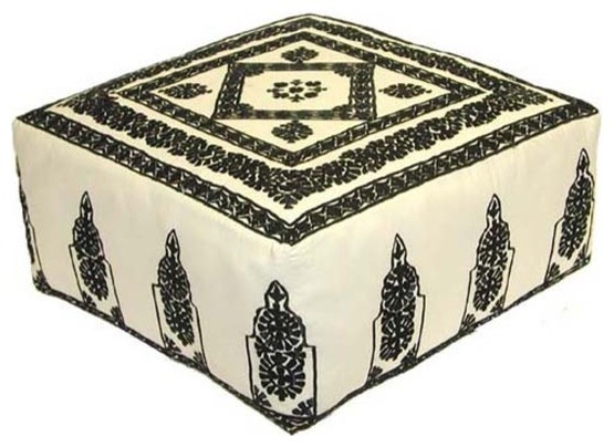 Embroidered Ottoman  ottomans and cubes