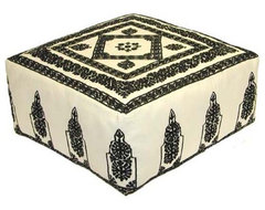 Embroidered Ottoman ottomans-and-cubes