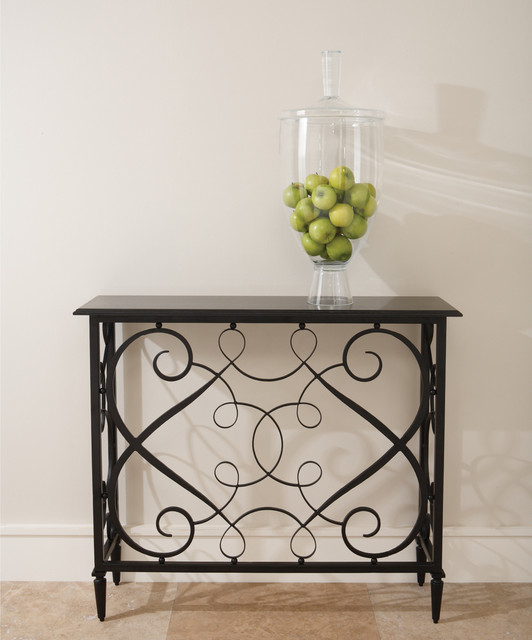 French Panel Console transitional-side-tables-and-end-tables
