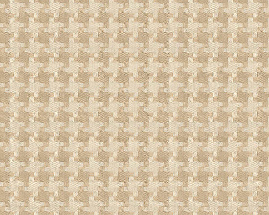 Great Scott! : Almond - Cream knit houndstooth fabric.
